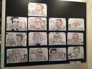 Aqua Nederland Vakbeurs 2018 Modderkolk live cartoonist