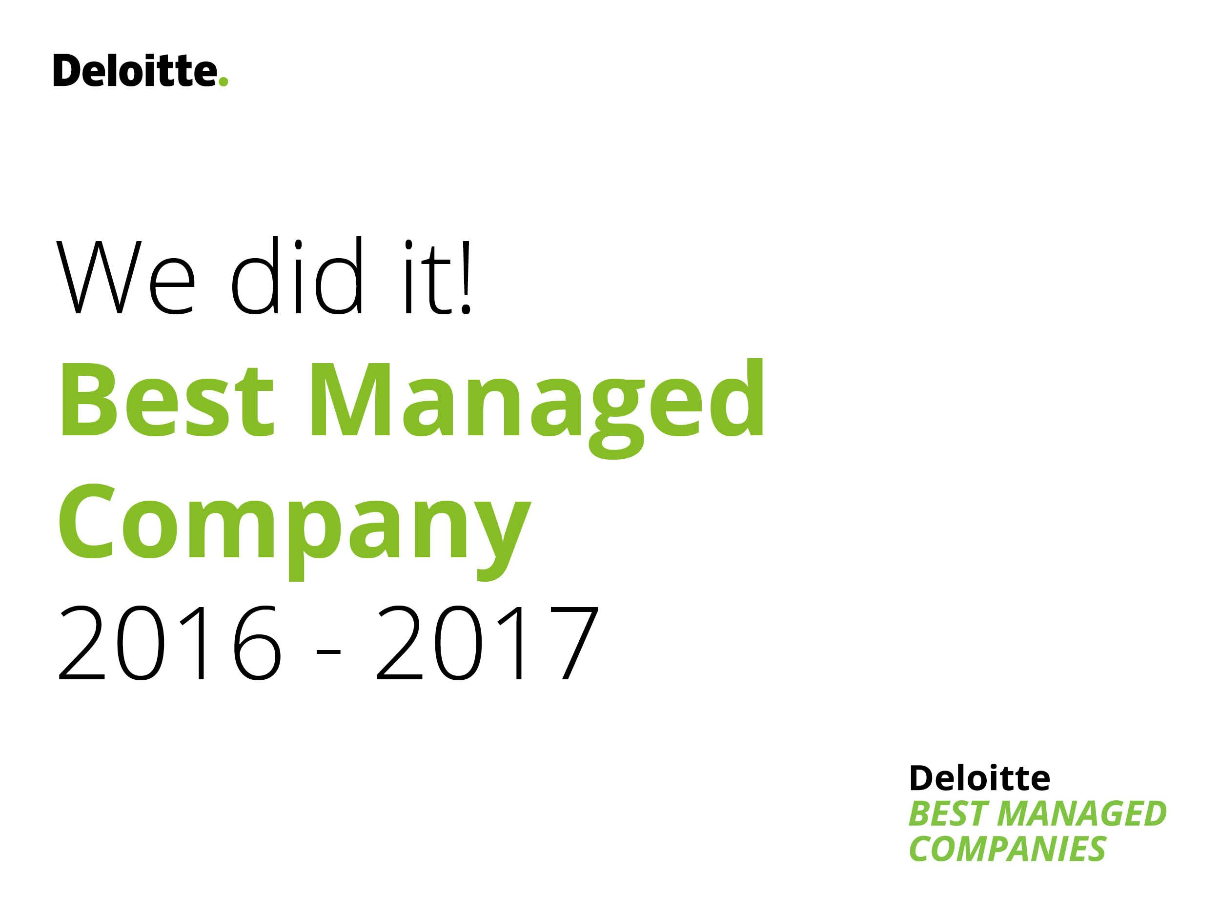Modderkolk Projects & Maintenance BV uit Wijchen opnieuw bekroond tot Best Managed Company 2016-2017