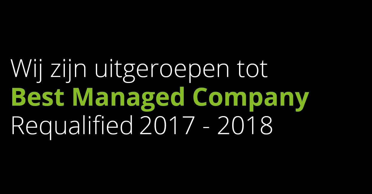 Modderkolk voor de derde keer op rij benoemd tot Best Managed Company!