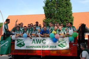 AWC Wijchen kampioen Modderkolk sponso