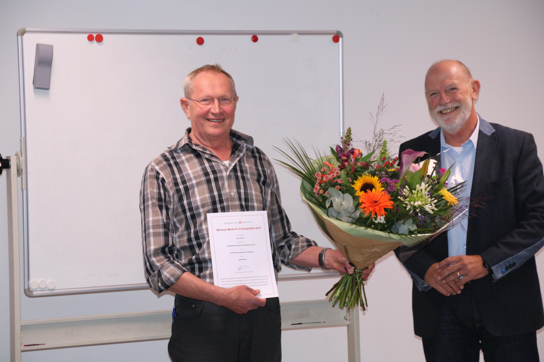 Jan Simons wordt uitgeroepen tot Beste Praktijkopleider van Gelderland 2017!