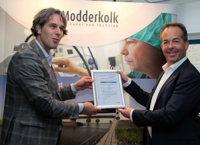 Modderkolk ontvangt onderscheiding Excellent Opleidingsbedrijf