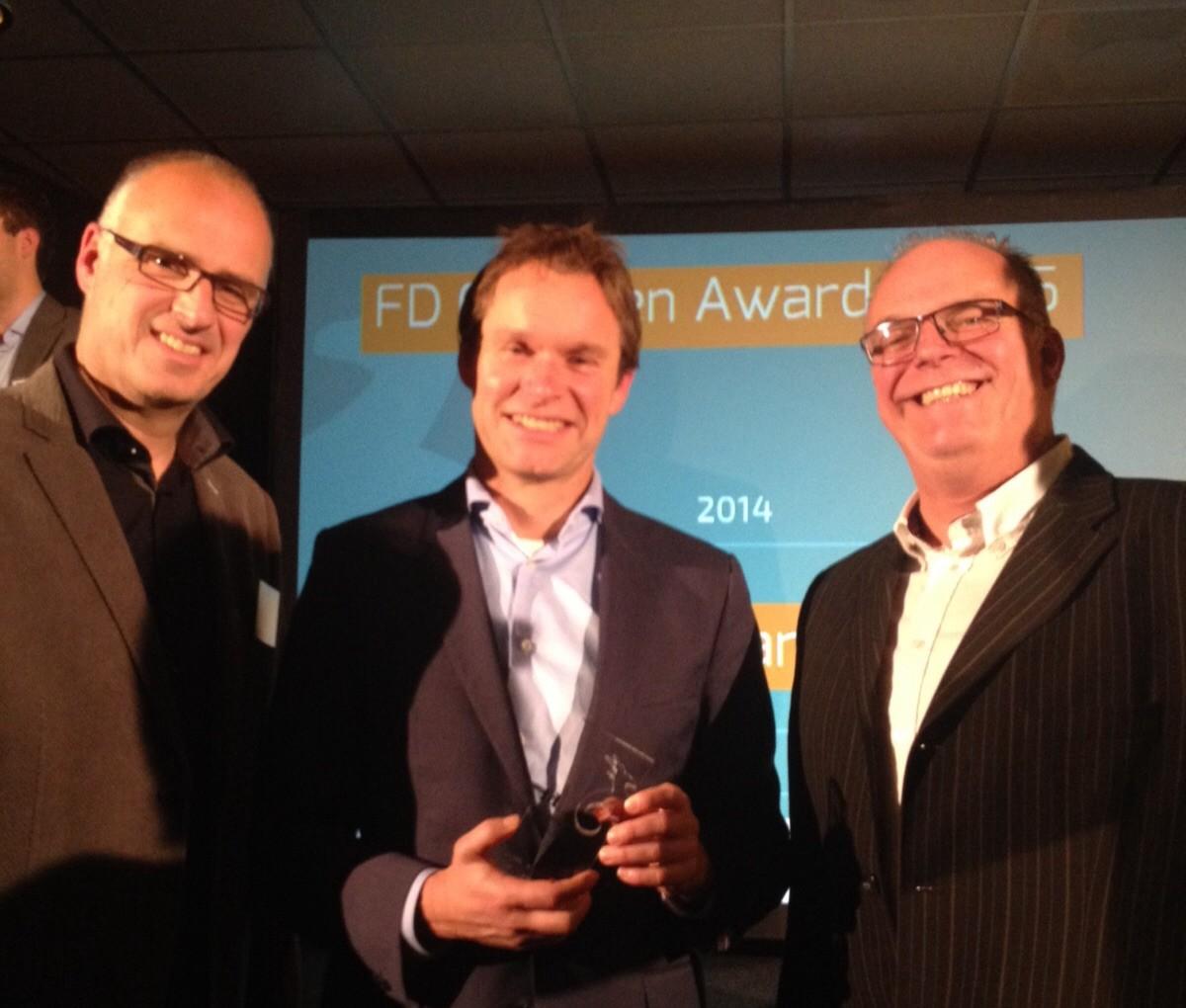 Modderkolk in de prijzen voor de FD Gazellen Awards 2015