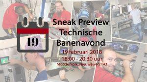 Sneak Preview Technische Banenavond Modderkolk 19 februari 2018