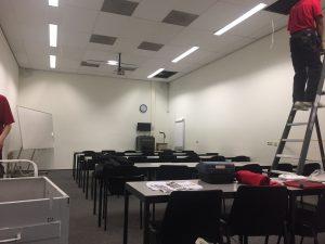 uitbreiding van het WLAN netwerk fase 2b klaslokaal werkzaamheden Modderkolk